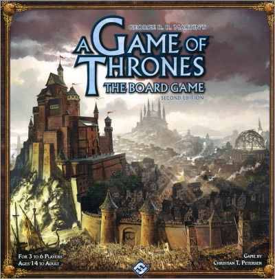 <i>A Game of Thrones- <br />The Board Game</i>, <br />Second Edition, <br />Fantasy Flight Games <br />2011 (US),