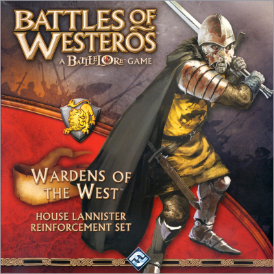 <i>Battles of Westeros - Wardens of the of the West House Lannister</i> Reinforcement Set, <br />Fantasy Flight Games 2010,