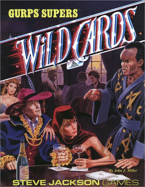 <i>Wild Cards - GURPS® Supers™</i><br /> RPG Supplement, <br />Steve Jackson Games <br />Paperback 1989 (US),