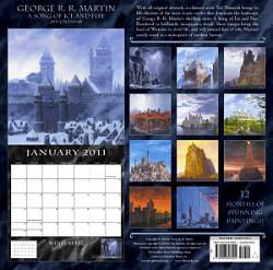 2011 calendar back
