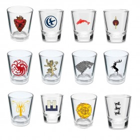 Game of Thrones House Sigil Shot Glasses [Set of 12]