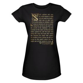 Game of Thrones Night's Watch Oath Women's T-Shirt