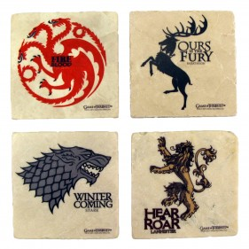 Game of Thrones House Sigil Stone Coaster Set