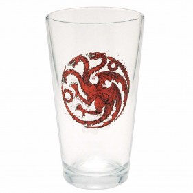 Game of Thrones Distressed House Targaryen Pint Glass