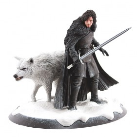 Game of Thrones Jon Snow & Ghost Collectible Statue