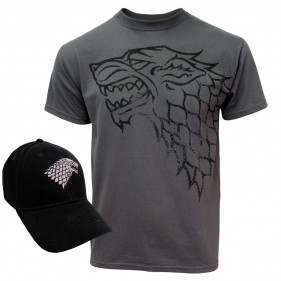 Game of Thrones House Stark T-Shirt + Hat Set