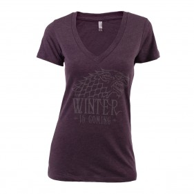 Game of Thrones Stark Metallic Ink Women's V-Neck T-Shirt