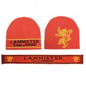 Game of Thrones Lannister Beanie + Scarf Set