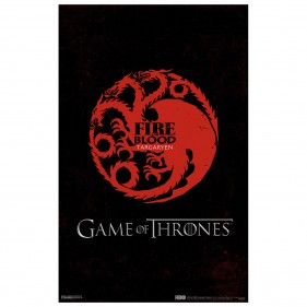 Game of Thrones House Targaryen Poster [11x17]
