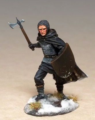 Night's Watch Warrior with Weapon/Shield Choices (Masterworks Miniatures)