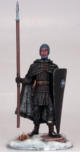 Night's Watch Warrior with Spear (Masterworks Miniatures)